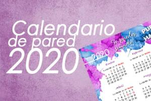 CALENDARIO 2020 DE PARED A4 para descargar e imprimir