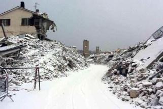 Terremoto: intensa nevicata ad Amatrice e Accumoli