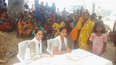 Krankenschwestern beim Medical Camp