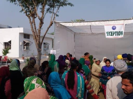 Plus de 400 patients examinés au cours de la journée.