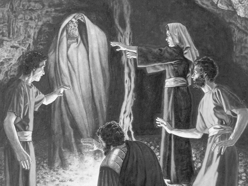 King Saul deceived by witch