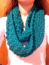 Hand Knit Circle Scarves
