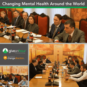 Changing Mental Health Around the World