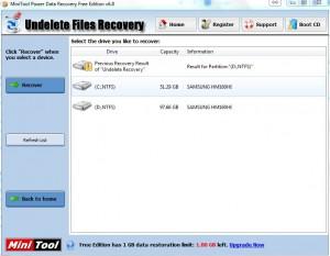 MiniTool Undelete Recovery