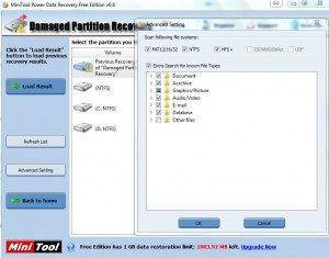 MiniTool Recover Damange Partition