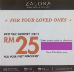 Zalora RM 25 Voucher