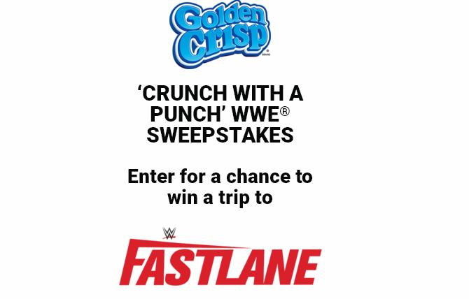 Golden Crisp Crunch With A Punch WWE Sweepstakes – Win A Trip Prize