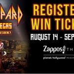 Def Leppard Hits Vegas The Sin City Residency Contest