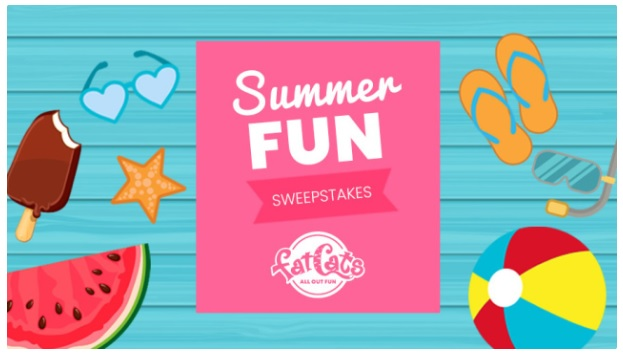 FatCats Summer Fun Sweepstakes – Win A $250 Fatcats Gift Card