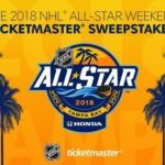 2018 NHL All-Star Weekend Ticketmaster Sweepstakes