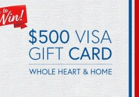 Whole Heart And Home Visa Gift Card Contest
