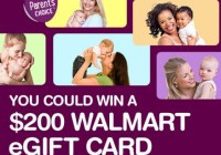 Parent's Choice Moms Know Best WM Fall Sweepstakes