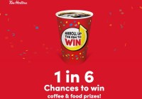Tim Hortons Roll Up The Rim To Win Promotion