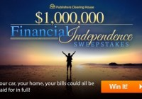 PCH.com Financial Independence Sweepstakes