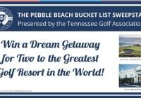 Pebble Beach Bucket List Sweepstakes