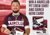 HCA Advertising Services Hairclub Spencer Boyd Pit Crew Shirt And Autographed Hero Card Giveaway