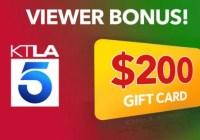 KTLA Viewer Bonus Giveaway