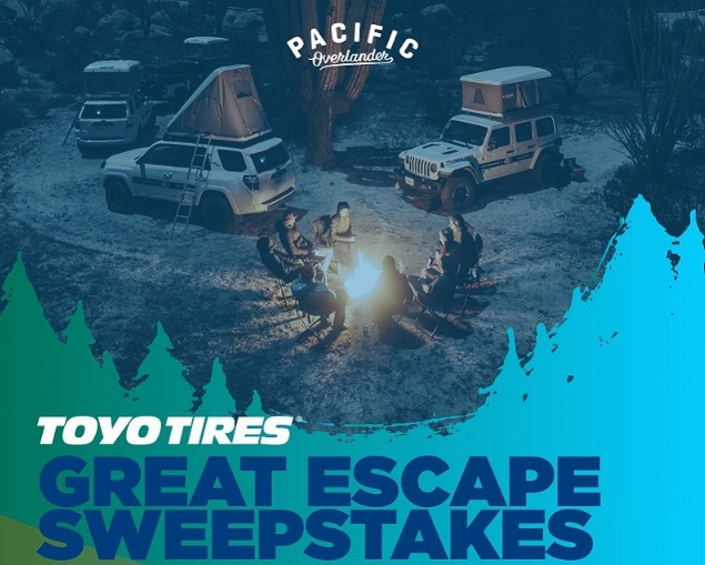 Toyo Tire U.S.A. Corp Toyo Tires Great Escape Sweepstakes
