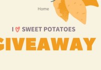 Bako Sweet I Love Sweet Potatoes Giveaway