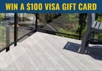 $100 VISA Gift Card By Duradek Solutions Giveaway