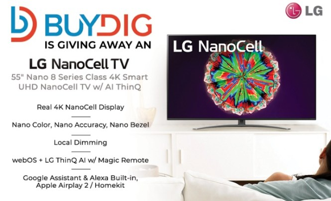 Beach Trading Buydig LG Nanocell TV Giveaway