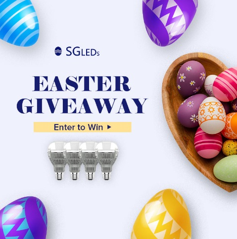 Enclosed Fixtures Rated LED Bulbs Easter Giveaway