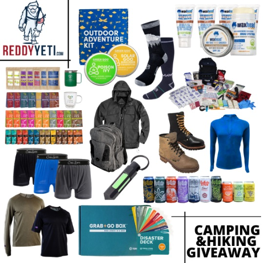ReddyYeti.com 2021 Camping And Hiking March Giveaway