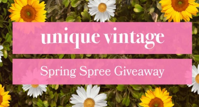 Unique Vintage Spring Spree Sweepstakes