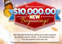 PCH $10K New Begin Sweepstakes