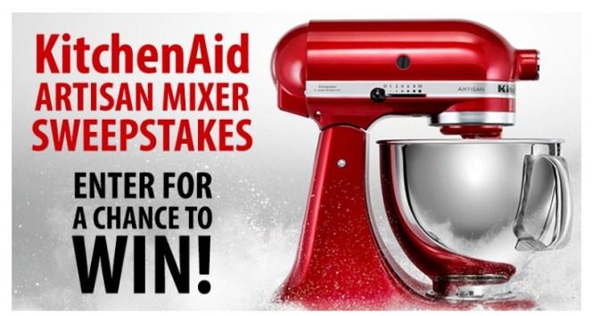 Whole Customer KitchenAid Artisan Mixer Sweepstakes