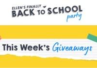 Ellen Back To School Giveaway