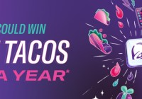 Taco Bell Rewards Free Tacos For A Year Sweepstakes