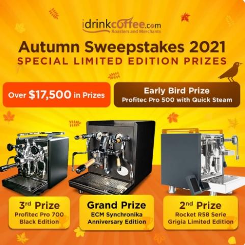 IDrinkCoffee.com Autumn Sweepstakes