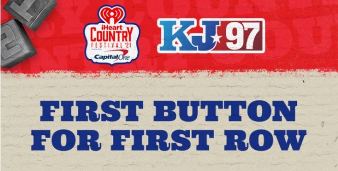 KJ97 First Button For First Row Sweepstakes
