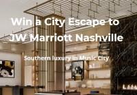 JW Marriott Nashville Sweepstakes