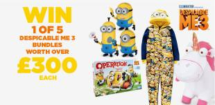 Despicable Me 3 bundles giveaway – Win 1 of 5 worth £300 each E:20/07