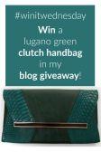 Blog Giveaway: Win a Lugano Green Clutch Handbag E;19/07 #winitwednesday