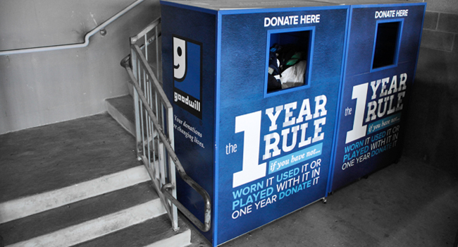 Goodwill donation bins