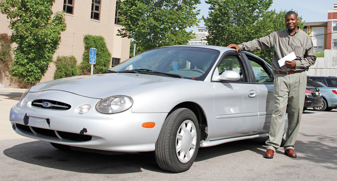 Mark Combs receives free car