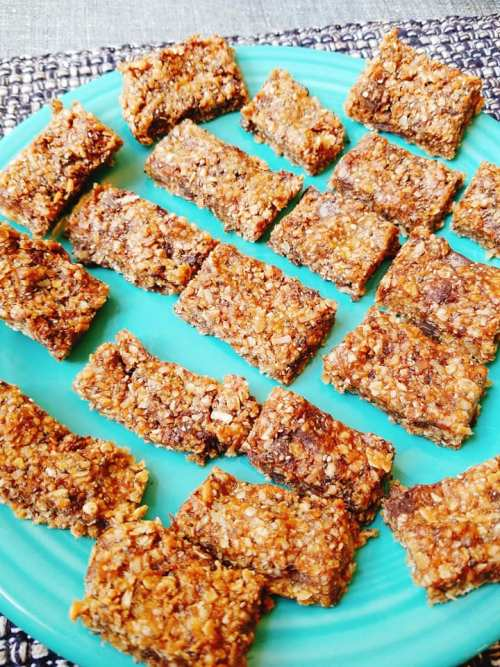 Toasted Coconut, Chocolate, and Chia Granola Bites