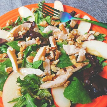 Chicken Salad with apples and Hilary's Apple Fennel dressing