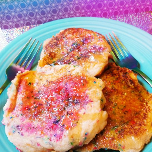 Gluten-Free, Egg-Free Cotton Candy Cloud Pancakes