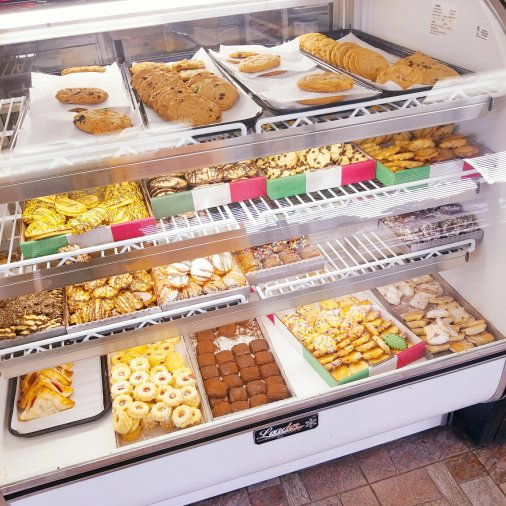 Dessert cases at Apple Annie's