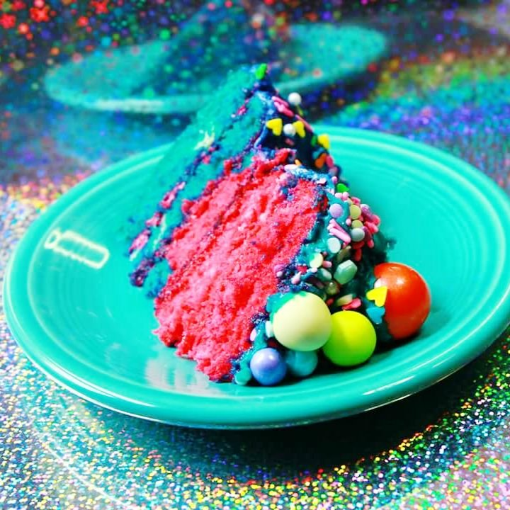 Slice of Bubblegum Gluten-Free Cake - Let's Get The Party Started