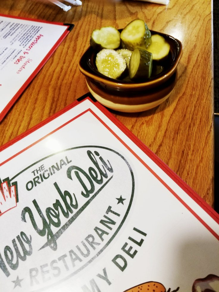 New York Deli in St Clair Shores, MI - You always get started with pickles!