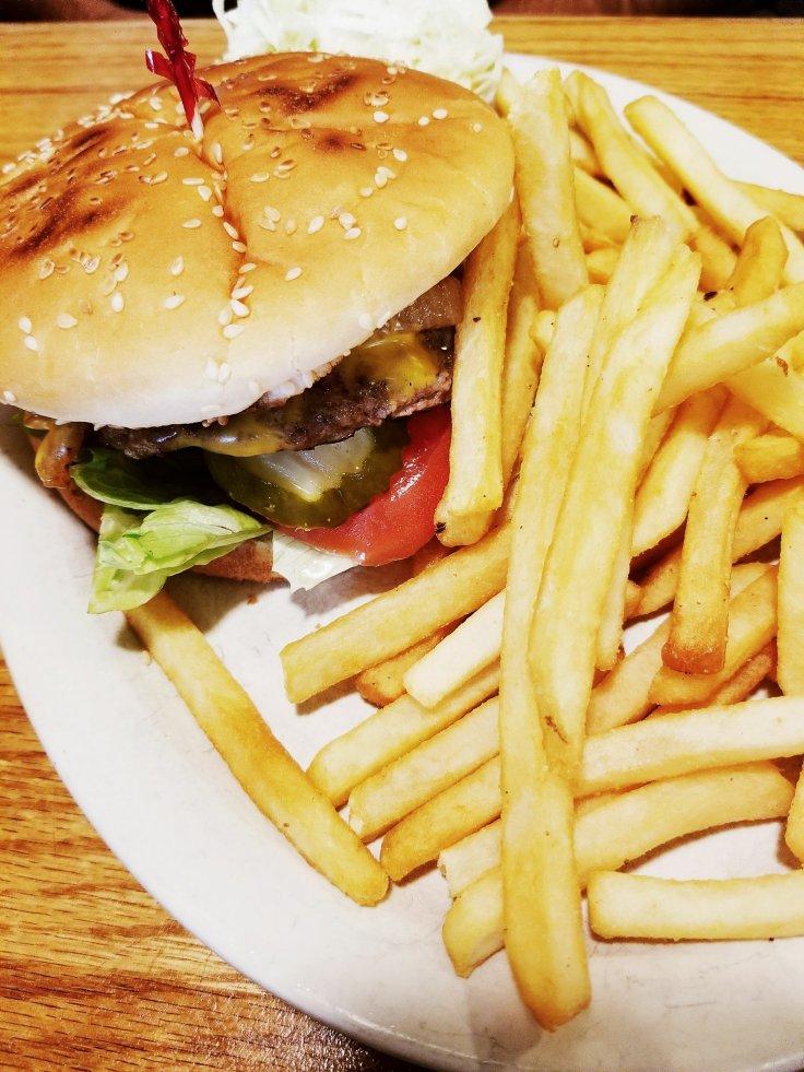 Burger & Fries at New York Deli St Clair Shores