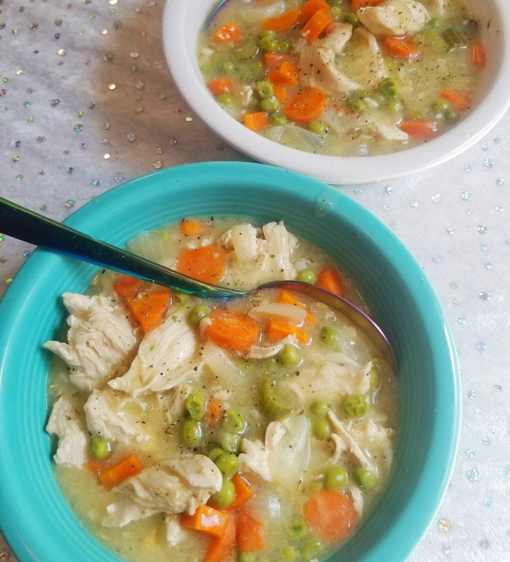 Gluten-Free Chicken Pot Pie Soup (Take Away The PEAS & It Is Paleo!!)