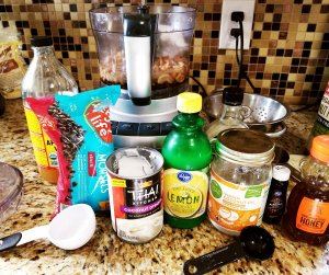 """The """"cheesecake"""" ingredients for the paleo & vegan cheesecake"""