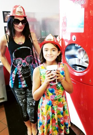 Give It A Whirl Girl and the Pearl Girl at Firehouse Subs in Roseville, MI