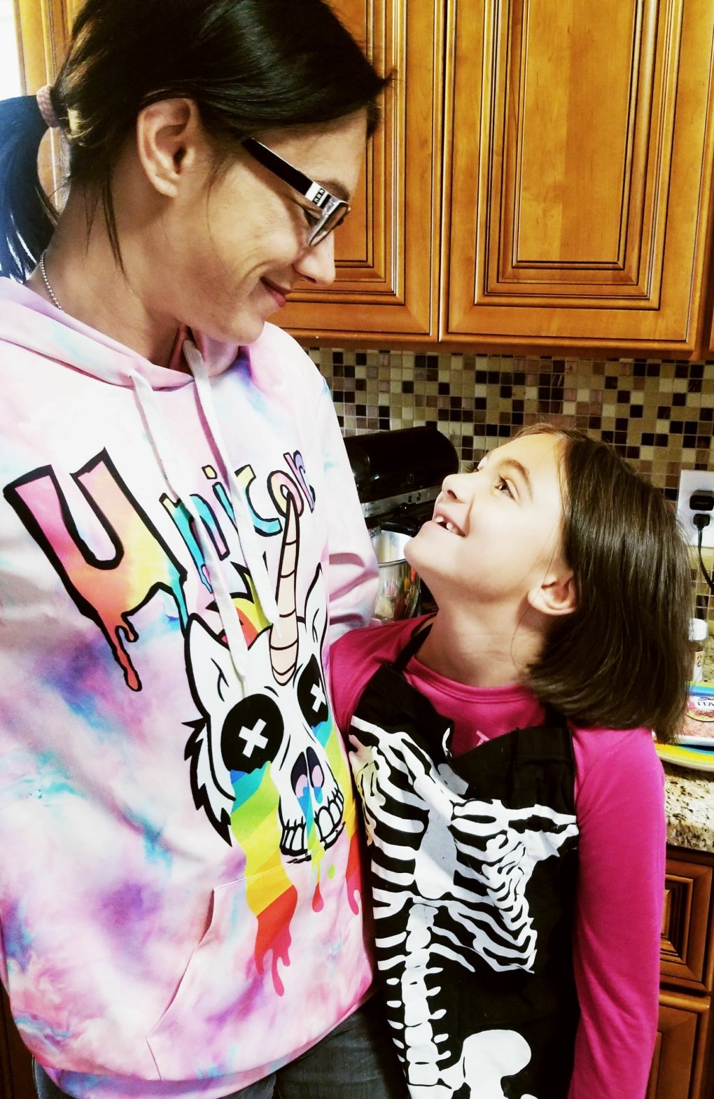 My daughter and I in the kitchen bonding while cooking